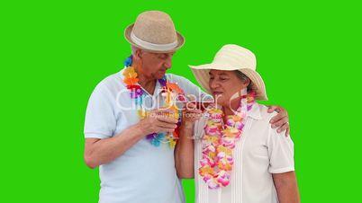 Senioren mit Cocktail
