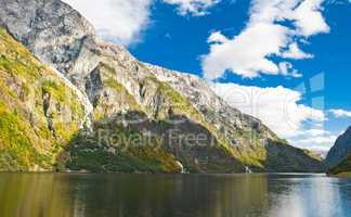 Norwegian Fjord: Mountains and sky