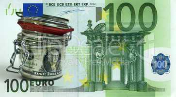dollars in the bank against the euro