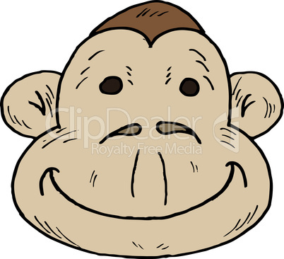 Vector illustration of a cartoon monkey
