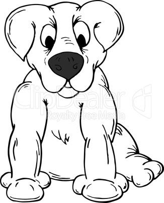 Vector illustration of a cartoon dog