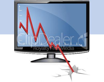 Monitor und Diagramm