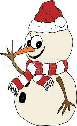 Snowman waving