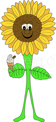 Sunflower With Ice Cream