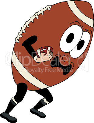 Vector cartoon american football, part of a sports series