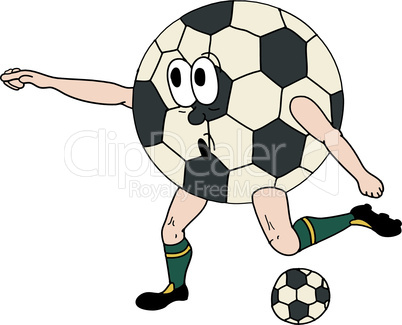 Vector illustration of a human soccer ball, part of a sports series