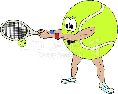 Vector illustration of a tennis ball, part of a sports series