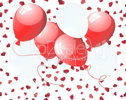 balloons on hearts