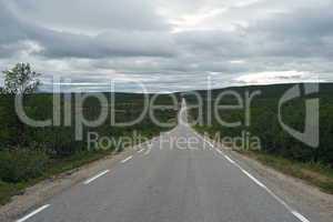 Strasse durch die Finnmark