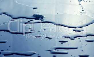 Water drops in blue