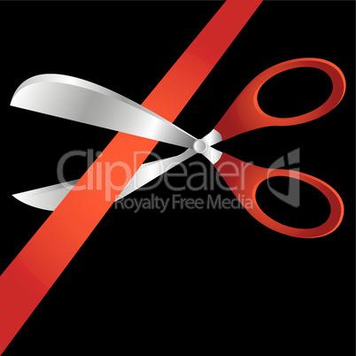 Scissors and tape.