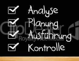 Das Projekt: Analyse/Planung/Ausführung/Kontrolle