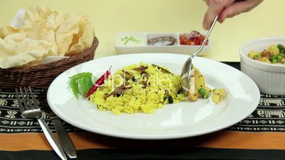 Serving Indian Curry