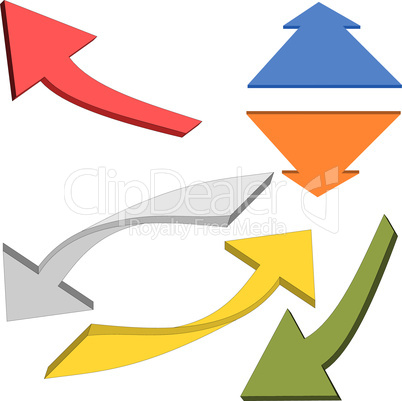 Colorful arrows 3D