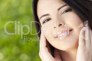 Portrait of Beautiful Latina Hispanic Woman