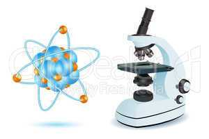 microscope with atom
