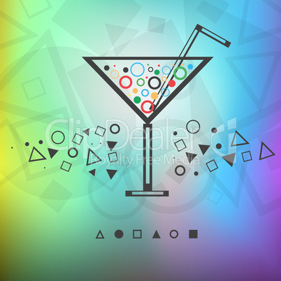 (modern background drink