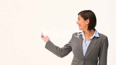 Geschäftsfrau/Präsentation