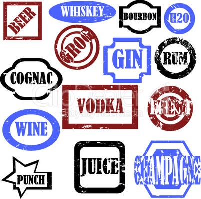 Alcoohol stamps