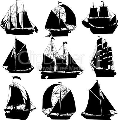 sailing ships vector