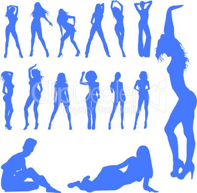 Line art girls