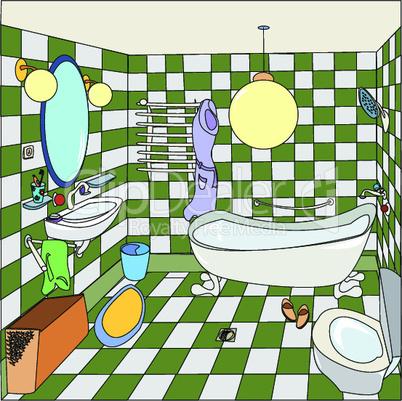 Cozy little bathroom.eps