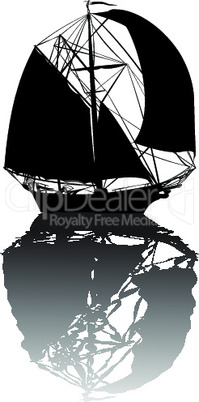 Old ship silhouette