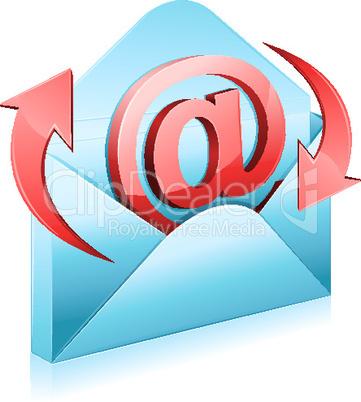 Briefumschlag mit @-Zeichen