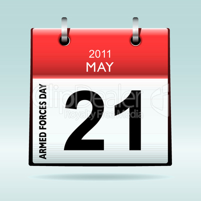 Armed forces day calendar