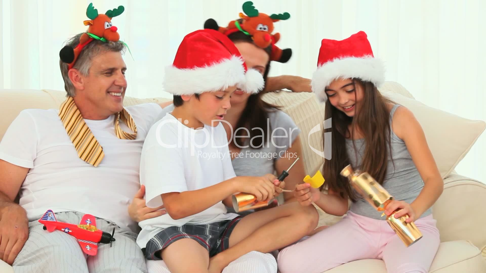 familie am weihnachten royalty free video and stock footage. Black Bedroom Furniture Sets. Home Design Ideas
