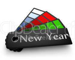 New Year color palette isolated