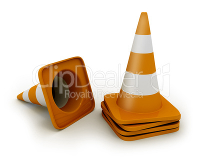Few road cones