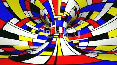 Twist rotation - Mondrian style