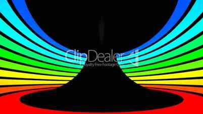 Twist rotation - Motion rainbow colors