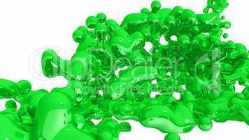 Green Liquid on white background - 01