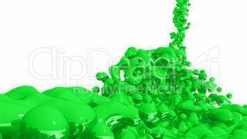 Green Liquid on white background - 03