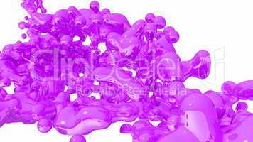 Purple Liquid on white background - 05