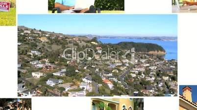 Montage of Suburban Real Estate Market