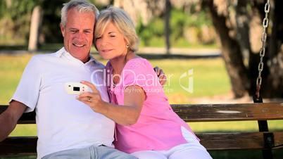 Seniors Having Fun with a Camera