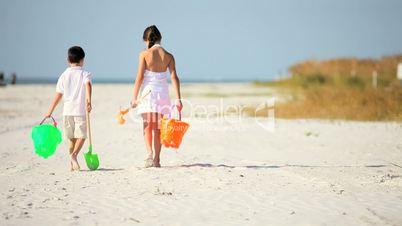 Childhood Fun at the Beach