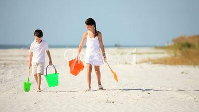 Happy Healthy Childhood Beach Fun