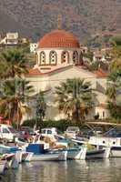 Boote im Hafen von Elounda, Kreta