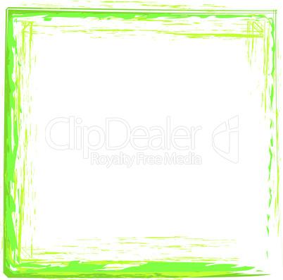 grün Rahmen Pinsel ausgefranst