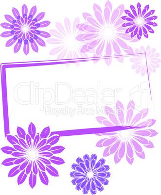 Gutschein Karte Blüten