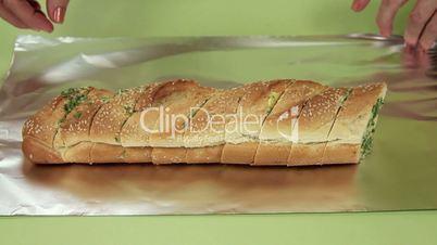 Baking Garlic Bread