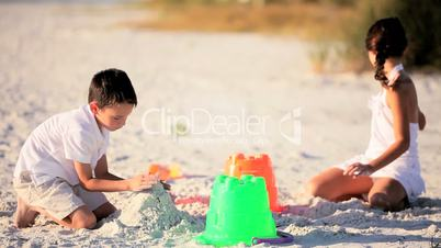 Young Children Playing in the Sand