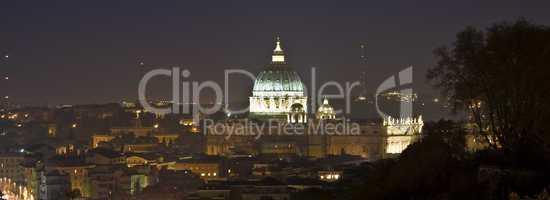 San Pietro at night