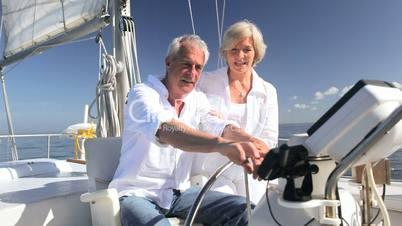 Contented Sailing Seniors