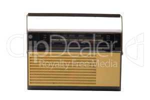 Old-fashioned transistor radio receiver