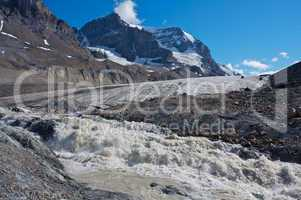 Athabasca Glacier with melt water 03
